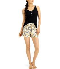 jenni by jennifer moore tank & shorts pajama set, created for macy's