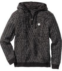 maglione con cappuccio slim fit (grigio) - rainbow