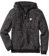pullover con cappuccio slim fit (grigio) - rainbow
