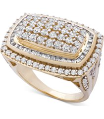wrapped in love diamond cluster statement ring (2 ct. t.w.) in 14k gold, created for macy's