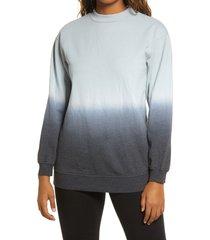 women's bp. dip dye crewneck cotton blend sweatshirt, size x-small - black