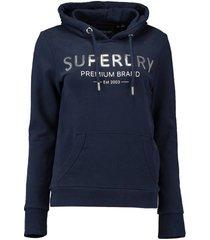hoodie sequinentry blauw