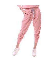 calça simony lingerie jogger  delicotton rosa