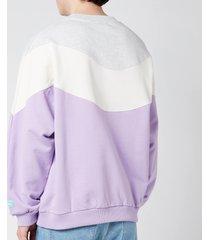 drôle de monsieur men's wave sweatshirt - purple - xl