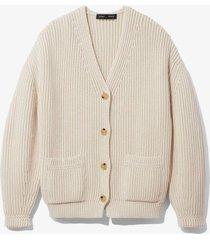 chunky cotton rib cardigan