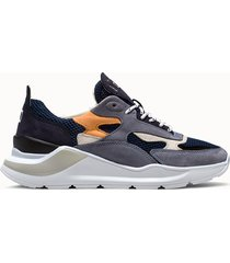 d.a.t.e. sneakers fuga mesh colore blu