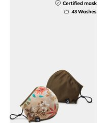 camoflower mask + pouch - brown - u