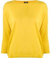 aspesi boat neck sweater - yellow