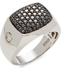 effy men's 14k white gold & black diamond ring - size 10