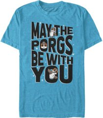 star wars men's episode 8 may the porgs be with you short sleeve t-shirt