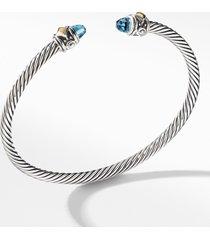 david yurman renaissance bracelet with 18k gold, size small in blue topaz at nordstrom