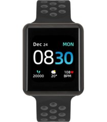 men's air 3 black and gray perforated silicone strap touchscreen smart watch 44mm