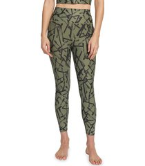 sage collective women's high-rise print active leggings - spring - size l