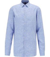 boss men's slim fit linen shirt