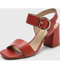 sandalia cuero rojo bottero