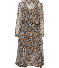 malin jurk knielengte bruin custommade