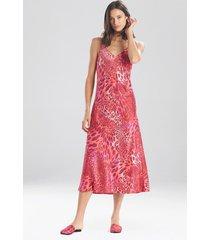 natori jaguar gown pajamas / sleepwear / loungewear, women's, pink, size l natori