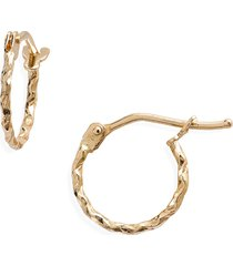 bony levy 14k gold textured twisted hoop earrings in yellow gold at nordstrom