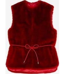 short shearling vest pink 42