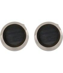 tateossian abotoaduras de vidro 'bullseye' - preto
