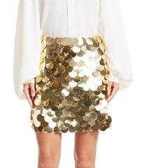 metallic pailette mini a-line skirt