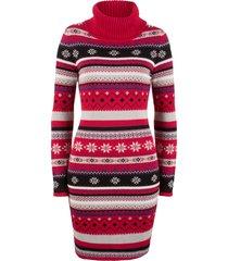 abito in maglia jacquard (rosso) - bpc bonprix collection