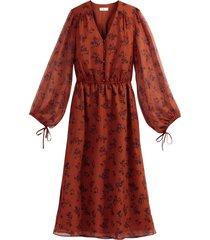 blommig maxiklänning med lång ärm