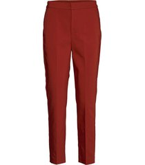zellaiw flat pant byxa med raka ben röd inwear