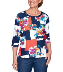 alfred dunner road trip colorblocked top