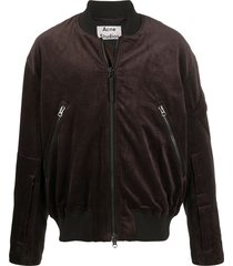 acne studios corduroy-effect bomber jacket - brown