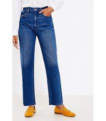loft 90s straight jeans in authentic dark indigo wash