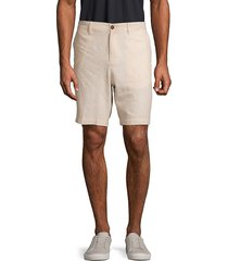 original penguin men's classic linen & cotton blend shorts - vintage indigo - size 30