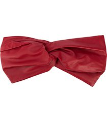 manokhi leather headband - red