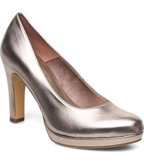woms court shoe shoes heels pumps classic guld tamaris