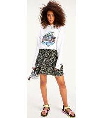 tommy hilfiger women's smocked waist floral skirt floral print - xl