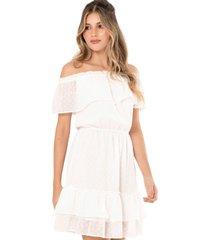 vestido aitana blanco ragged pf11510987