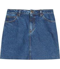 falda en jean color azul oscuro, talla 14