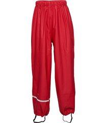 rainwear pants, solid outerwear rainwear bottoms röd celavi