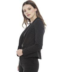 blazer bunnys mini lunar marsella negro - calce ajustado