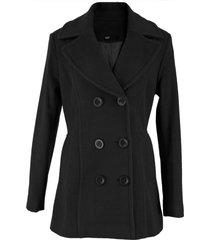casaco feminino trench coat viena em l㣠batida - preto - preto - feminino - l㣠- dafiti