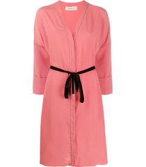 blanca vita adele tie-waist shirt dress - pink
