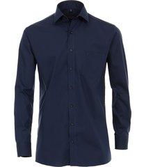 casamoda overhemd effen kent modern fit blauw
