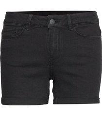 vmhot seven nw dnm fold shorts mix noos shorts denim shorts svart vero moda