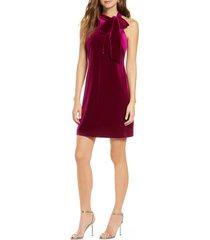 vince camuto halter tie neck a-line dress, size 8 in magenta at nordstrom