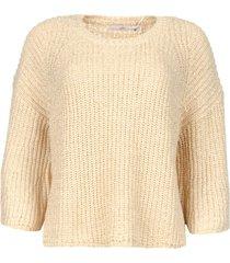 trui met wijde mouwen thalia  beige