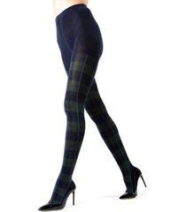 tartan plaid sweater women's tights