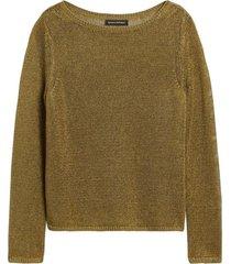 sweater lino boatneck verde banana republic