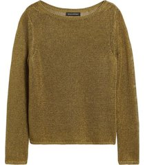 sweater lino boatneck verde banana republic