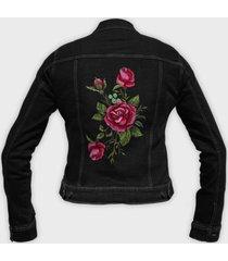 kurtka jeansowa damska róża