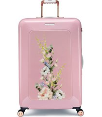ted baker london large elegant print 32-inch hard shell spinner suitcase -